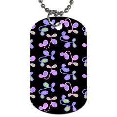 Purple Garden Dog Tag (two Sides) by Valentinaart