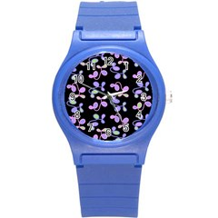 Purple Garden Round Plastic Sport Watch (s)