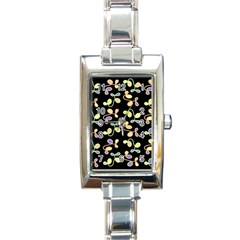 Magical Garden Rectangle Italian Charm Watch by Valentinaart