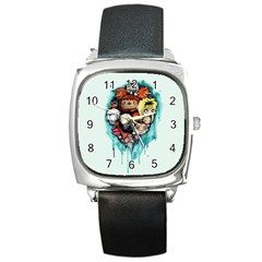Should You Need Us 2 0 Square Metal Watch by lvbart
