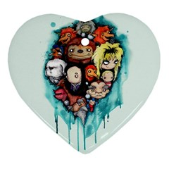 Should You Need Us 2 0 Heart Ornament (2 Sides) by lvbart