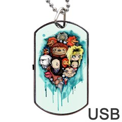 Should You Need Us 2 0 Dog Tag Usb Flash (two Sides)  by lvbart