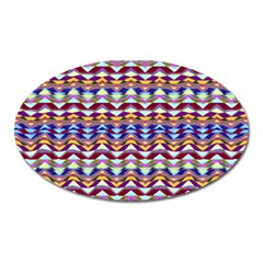 Ethnic Colorful Pattern Oval Magnet by dflcprints