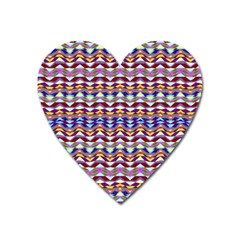 Ethnic Colorful Pattern Heart Magnet by dflcprints