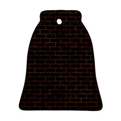 Brick1 Black Marble & Brown Marble (r) Bell Ornament (two Sides) by trendistuff