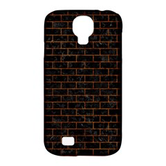 Brick1 Black Marble & Brown Marble (r) Samsung Galaxy S4 Classic Hardshell Case (pc+silicone) by trendistuff