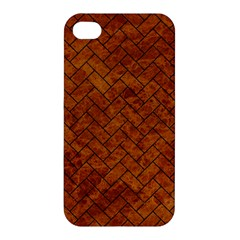 Brick2 Black Marble & Brown Marble Apple Iphone 4/4s Hardshell Case by trendistuff