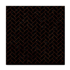 Brick2 Black Marble & Brown Marble (r) Tile Coaster by trendistuff