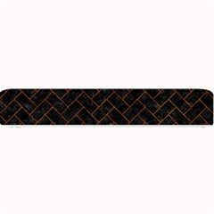 Brick2 Black Marble & Brown Marble (r) Small Bar Mat by trendistuff
