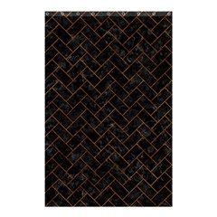 Brick2 Black Marble & Brown Marble (r) Shower Curtain 48  X 72  (small) by trendistuff