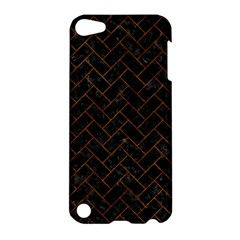 Brick2 Black Marble & Brown Marble (r) Apple Ipod Touch 5 Hardshell Case by trendistuff