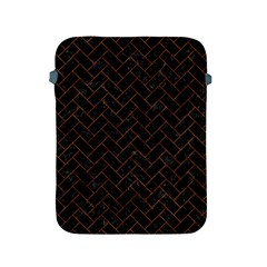 Brick2 Black Marble & Brown Marble (r) Apple Ipad 2/3/4 Protective Soft Case by trendistuff