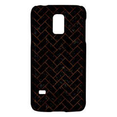 Brick2 Black Marble & Brown Marble (r) Samsung Galaxy S5 Mini Hardshell Case  by trendistuff
