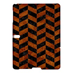 Chevron1 Black Marble & Brown Marble Samsung Galaxy Tab S (10 5 ) Hardshell Case  by trendistuff