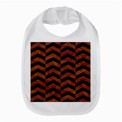 Chevron2 Black Marble & Brown Marble Bib