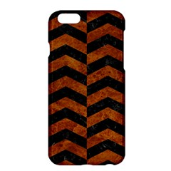 Chevron2 Black Marble & Brown Marble Apple Iphone 6 Plus/6s Plus Hardshell Case by trendistuff