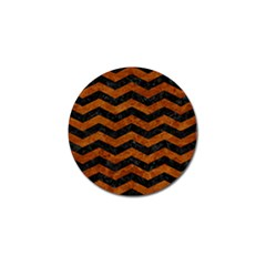 Chevron3 Black Marble & Brown Marble Golf Ball Marker (10 Pack) by trendistuff