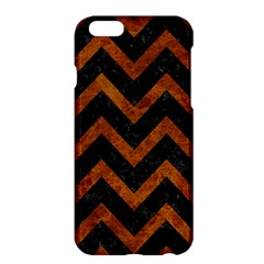 Chevron9 Black Marble & Brown Marble Apple Iphone 6 Plus/6s Plus Hardshell Case by trendistuff