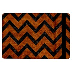 Chevron9 Black Marble & Brown Marble (r) Apple Ipad Air Flip Case by trendistuff