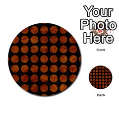 Circles1 Black Marble & Brown Marble Multi Purpose Cards (round) by trendistuff