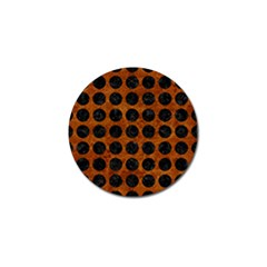 Circles1 Black Marble & Brown Marble (r) Golf Ball Marker by trendistuff