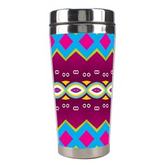 Rhombus And Ovals Chains                                                                                                               Stainless Steel Travel Tumbler by LalyLauraFLM