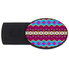 Rhombus And Ovals Chains                                                                                                               			usb Flash Drive Oval (4 Gb) by LalyLauraFLM