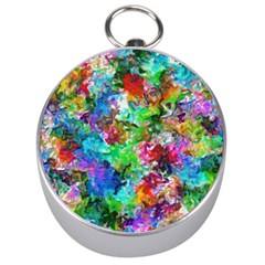 Colorful Strokes                                                                                                                Silver Compass by LalyLauraFLM