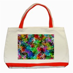 Colorful Strokes                                                                                                                			classic Tote Bag (red) by LalyLauraFLM