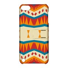 Mirrored Shapes In Retro Colors                                                                                                                			apple Ipod Touch 5 Hardshell Case With Stand by LalyLauraFLM