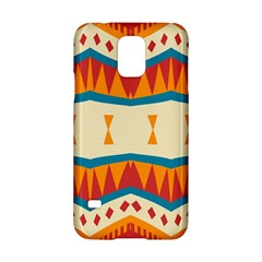 Mirrored Shapes In Retro Colors                                                                                                                			samsung Galaxy S5 Hardshell Case by LalyLauraFLM