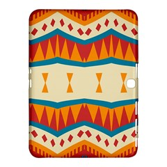 Mirrored Shapes In Retro Colors                                                                                                                			samsung Galaxy Tab 4 (10 1 ) Hardshell Case by LalyLauraFLM
