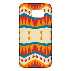 Mirrored Shapes In Retro Colors                                                                                                                			samsung Galaxy S6 Hardshell Case by LalyLauraFLM