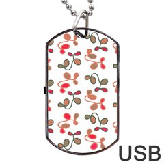 Simple Garden Dog Tag Usb Flash (one Side) by Valentinaart