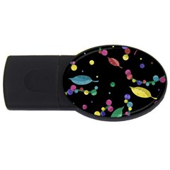 Space Garden Usb Flash Drive Oval (4 Gb)  by Valentinaart