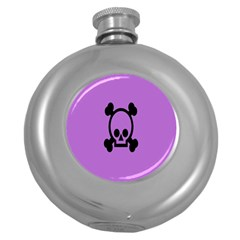 Cartoonskull Danger Round Hip Flask (5 Oz)