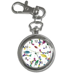 Abstract Floral Design Key Chain Watches by Valentinaart