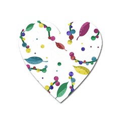 Abstract Floral Design Heart Magnet by Valentinaart