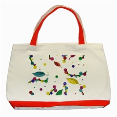 Abstract Floral Design Classic Tote Bag (red) by Valentinaart