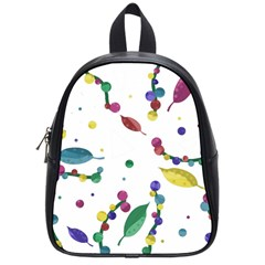 Abstract Floral Design School Bags (small)  by Valentinaart