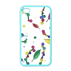 Abstract Floral Design Apple Iphone 4 Case (color) by Valentinaart