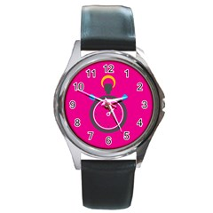 Alarm Clock Houre Round Metal Watch