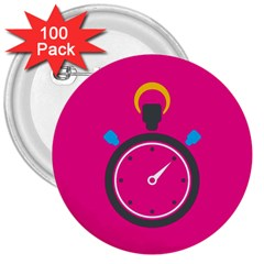 Alarm Clock Houre 3  Buttons (100 Pack)