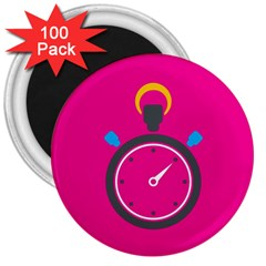 Alarm Clock Houre 3  Magnets (100 Pack)