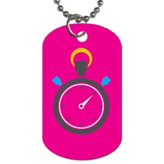 Alarm Clock Houre Dog Tag (two Sides) by AnjaniArt