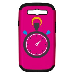 Alarm Clock Houre Samsung Galaxy S Iii Hardshell Case (pc+silicone) by AnjaniArt