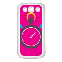 Alarm Clock Houre Samsung Galaxy S3 Back Case (white) by AnjaniArt