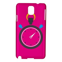 Alarm Clock Houre Samsung Galaxy Note 3 N9005 Hardshell Case by AnjaniArt