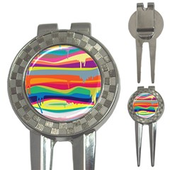 Colorfull Rainbow 3 In 1 Golf Divots by AnjaniArt