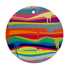 Colorfull Rainbow Round Ornament (two Sides)